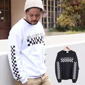 2017 A/W Men's Checker Flag Raised Back Sweatshirt