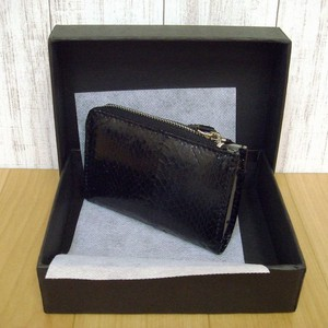 Exotic Leather Fastener Coin Purse Fancy Box