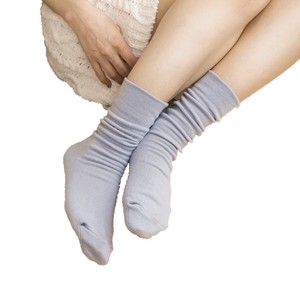 Double Silk Plain Socks Room Comfortable Sock