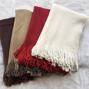 Bi-Color Plain Large Format Stole Scarf Genuine Cashmere