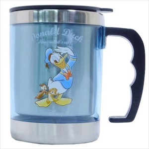 Donald Chip 'n Dale With Lid Stainless Mug