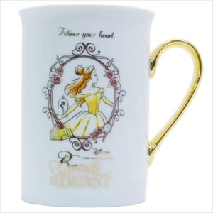 Beauty And The Beast Gold Premium Mug