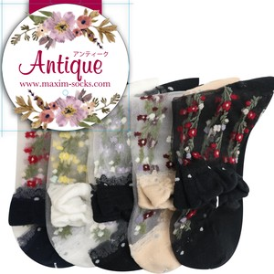 【18SS】Antique see‐through socks