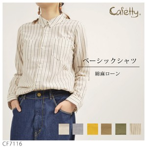 Cafetty Basic Shirt Top Cape