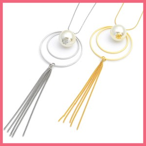 Tassel Chain Pearl Ring Necklace