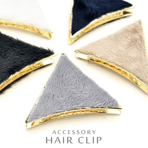 Fur Triangle Metal Hair Ban Clip Wide Active
