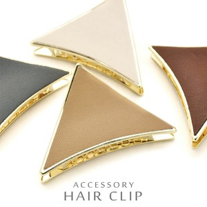 Leather Metal Triangle Hair Ban Clip