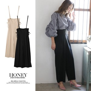 S/S Lace ponte fabric wide pants