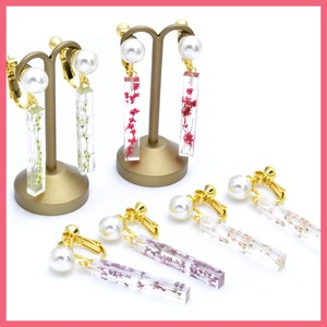 Gift Show Pearl Dry Flower Stick Earring