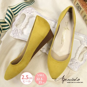 Wedge Sole Heel Pumps Flat Shoes