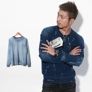 2018 S/S Men's Cut Denim Paint Sweatshirt