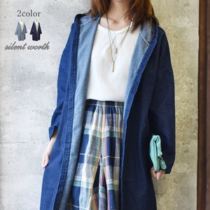 Popular Food Denim Long Jacket