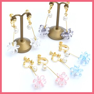 Gift Show Pearl Cut Beads Flower Earring