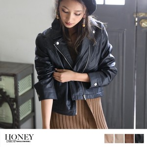 S/S Leather Motorcycle Leather Jacket Light Outerwear