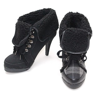 Lace High Heel Short Boots