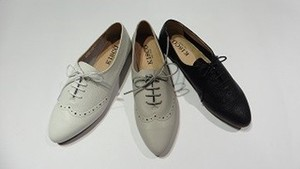 3 Colors S/S Genuine Leather Wing Lace Casual Shoe