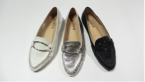 3 Colors S/S Genuine Leather Metal Fittings Decoration Pumps