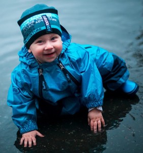 Baby Rain Waterproof Suits Blue Pink Yellow