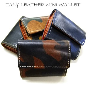 Italy Leather Three Compact Wallet