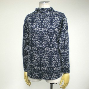 A/W Damask Bottle Neck Long Sleeve Pullover