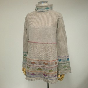 A/W Playing Card Card Knitted Tunic