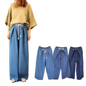 wide pants Denim Tuck Attached Flare Specification