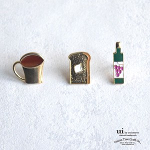 Brooch Cafe Coffee Cup Plain Bread Toast Bottle Brooch Accessory