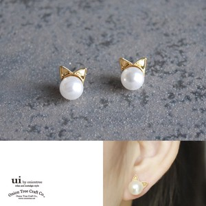 Limit Pierced Earring Pearl Cat Cat Pearl Pearl Accessory