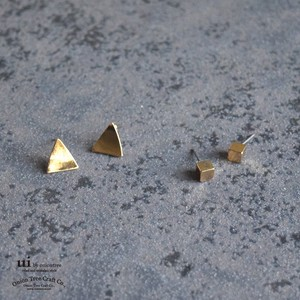Pierced Earring Geometry Triangle Triangle Triangle Square Cube Accessory