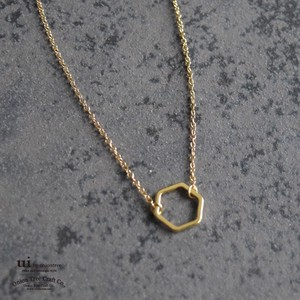 Necklace Geometry Watermark Hexagon Hexagon Square Shape Gold Accessory
