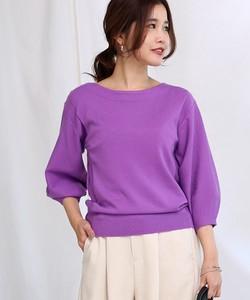 Last Color Balloon Knitted Pullover