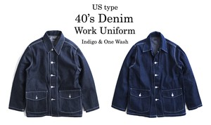 Type Denim Work Uniform Plain