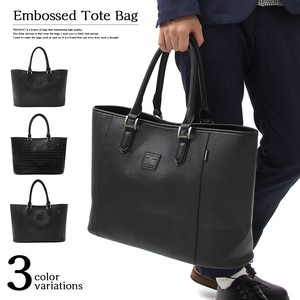 Genuine Leather Emboss Leather Tote Bag Ostrich Business Casual