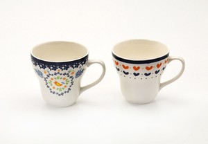 Pair Mag Cups Cup Heart Small Birds Gift