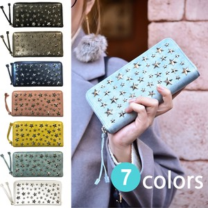 Star Studs Round Fastener Long Wallet Long Wallet Studs