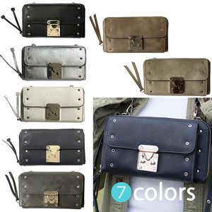 Metal Fittings Attached Wallet Pouch Pouch Wallet