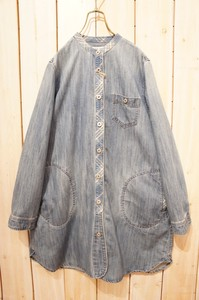 Denim Work Shirt One-piece Dress