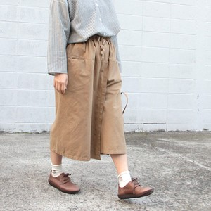 Twill Wrap Gaucho Pants Cotton
