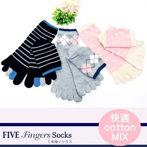 Five Fingers Toe Switch Crew Socks Five Finger 2018 S/S