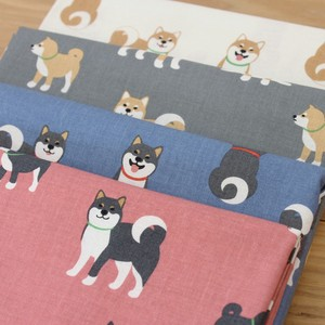 Fabric Cotton Danger Shiba Dog Design Fabric