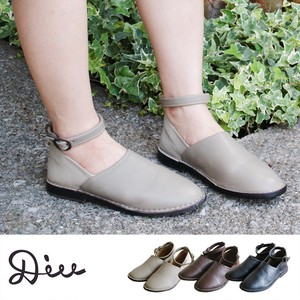Leather Combi Ankle Strap Shoes