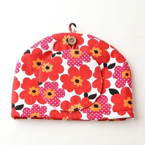 Tea Tea Pot Cover Pot Mat Set Flower Red