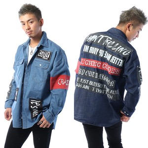 2018 S/S Men's Patch Decoration Big Shirt