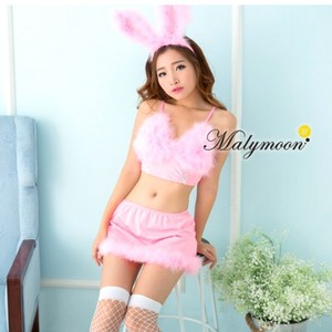 Pink Fluffy Cosplay Costume Girl