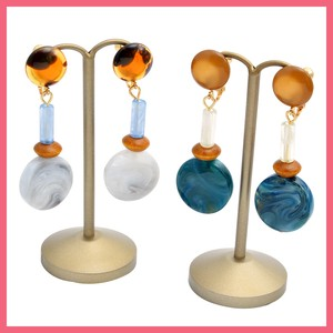 Marble Circle Beads Earring