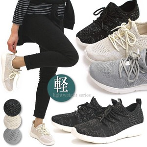2018 Spring Fly Knitted Sneaker Low-rise Shoe Ladies Lace
