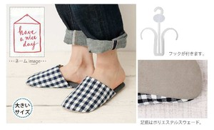 Gingham Slipper Size L