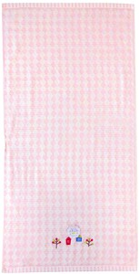 Embroidery Jacquard Home Bathing Towel Pink