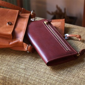 Oil Leather Fastener Long Wallet Coin Purse Attached Tokyo