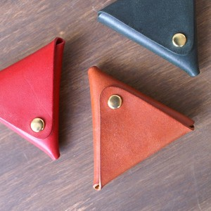 Oil Leather Genuine Leather Triangle Coin Case Tokyo Palm